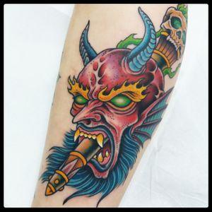 Devil tattoo 2018 #devil #deviltattoo #traditionaltattoo #romatattoo
