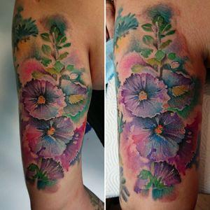 #watercolortattoo #flowertattoo #gdansk