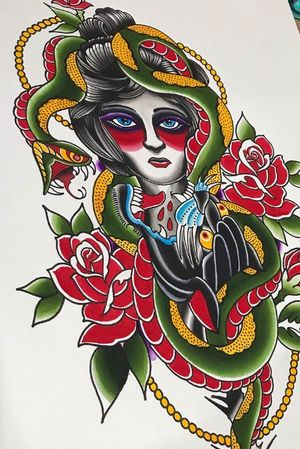 """February '19"". Analog. #permanentaddictionstattoo #heathravetattoos #sodak #siouxfallsartists #siouxfalls #siouxfallstattoo #southdakota #tattoo #traditionaltattoos  #tattoosthatlookliketattoos #streetshopforever #aliveinthe605 #spitshade #watercolor #Flash"