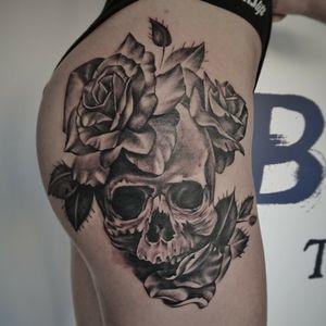 #skull #blackandgreytattoo #gdansk