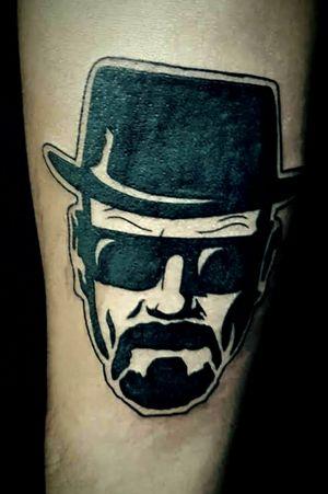 #blacktattoo #walterwhite #breakingbadtattoo #breakingbad #tattoodo