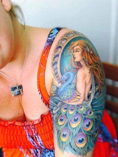 #tattoo #tattoolife #tattooart #peacock #ArtNouveautattoo #rosewatertattoo #tattoos #tattooartist #art #ink #inked #lynntattoos #inkedmag #portland #portlandtattooers #portlandtattoo #pdx #pdxartists #pdxtattooers #pdxtattoo #tattooed #tatsoul #fusiontattooink #fkirons #bestink #vegan #tattoosnob #muchatattoos #crueltyfree #eternalink