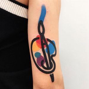 Tattoo by Mattia Mambo #MattiaMambo #paintpalettetattoos #palettetattoos #painttattoos #artisttattoos #paint #brushes #art #fineart