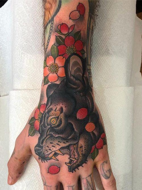 Tattoo by Matt Adamson #MattAdamson #KingsAvenueTattoo #neotraditional #Japanese #mashup #color