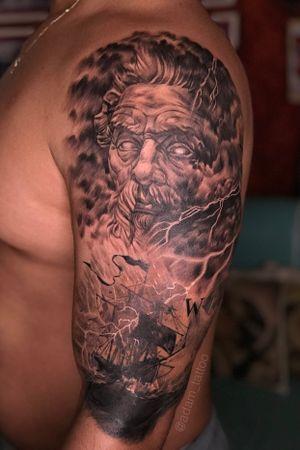 Poseidon neptune boat tattoo