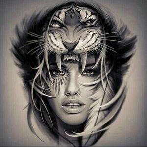 #indian #native #feminine #lion
