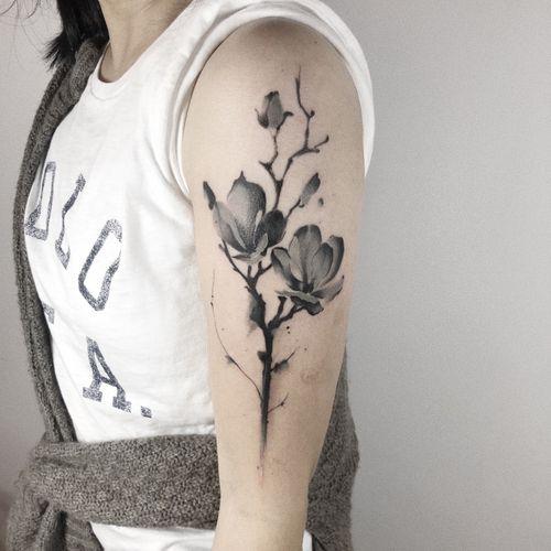 #flowertattoo #watercolorflower#watercolorflowertattoo #melbournetattoo #melbournetattooist #melbournetattoostudio