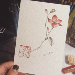 #flowertattoo #watercoloflower#watercolorflowertattoo #melbournetattoo #melbournetattooist #melbournetattoostudio