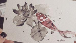 #flowertattoo #fishtattoo #melbournetattoo #melbournetattooist #melbournetattoostudio