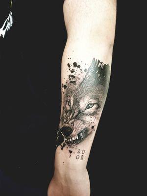 #wolf #blackandgreytattoo #blackandgrey