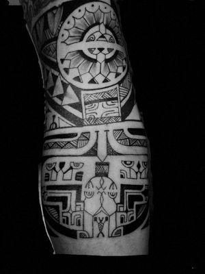 #tahitian #tatausamoa #patutiki #PolynesianTattoos