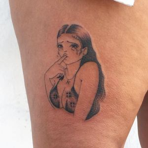 Tattoo by Soto Gang #SotoGang #crybabytattoo #crybaby #crying #feelings #sadgirl #tears #heartbreak
