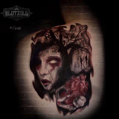 #horror #surrealism #heart #hangingdead #zombie #blood #undead #colour #realistic #blutzoll #liese_van_lotte #siegen