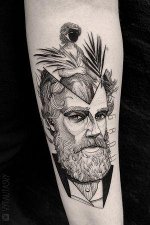 #Tattoodo #dotwork #portrait #contemporary