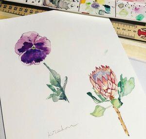 #flowertattoo #watercolortattoo #watercolorflowertattoo#melbournetattoo #MelbourneTattooCompany #melbournetattooist #melbournetattoostudio