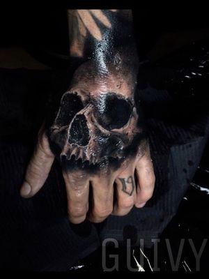 Guivy Hellcat - Art For Sinners - Geneva #guivy #tattoo #geneve #geneva #switzerland #tatouage #suisse #tatoueur #crane #tatuaje #tatuagem #skull #skulltattoo #realism #blackandgrey #hand #knuckles #knuckletattoo #handtattoo #main #dark #hands #blackAndWhite #Black #blackandgrey #realism #realiste