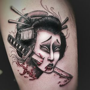 Geisha head by Kelsey