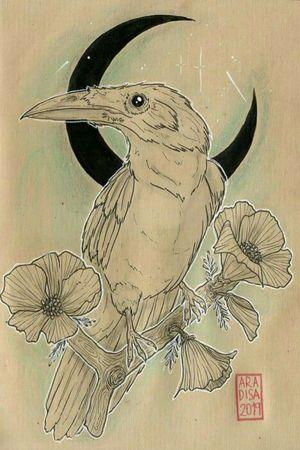 #crow #originaldesign #artwork #mexicantattooartist #mexicantattoo #MexicoCity