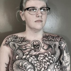 Tattoo by Joao Bosco #JoaoBosco #LeMondialDuTatouage ##LeMondialDuTatouage2019 #Paris #France #tattooconvention