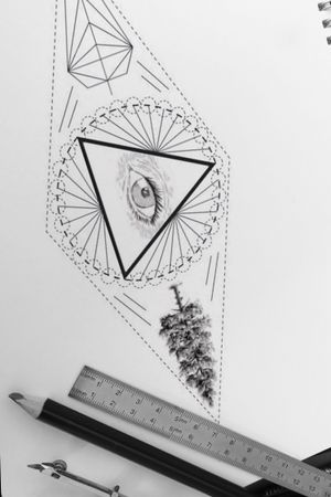 #geometrictattoos #geometric #tattoo #tattoos #graphicdesign #realistictattoo #eyetattoo #geometrictree #geometriceye #designforsale