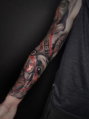 Done sleeve #neotrad #neotraditionaltattos #neotraditional #black #blacktattoo #dark #darkart #neotradeu #inking #killerink #tbsta #tattooistartmagazine #markgraftattoo #poland #poznantattoo #poznan #tattoo #art #tatts #surrealism #skull #skulltattoo #roses #rosestattoo #horror #realism #realusmtattoo #tattooshare