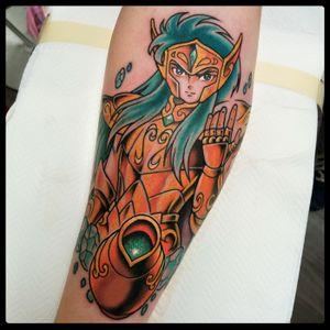 Aquarius tattoo 2017 - #saintseiya #saintseiyatattoo #icavalieridellozodiaco #camus #aquarius #acquario #tattoodo #animetattoo #cartoontattoo #mangatattoo #nerdtattoo #romatattoo #tattooroma