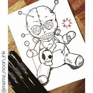 #voodoodolltattoo #VoodooDoll #inkme #meme_moon_ink #design #darkartist #madness #inkmag me on Insta: @meme_moon_ink