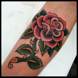 Rose tattoo -2017 #rosetattoo #rose #tattoodo #traditionaltattoo #oldschooltattoo #romatattoo #tattooroma