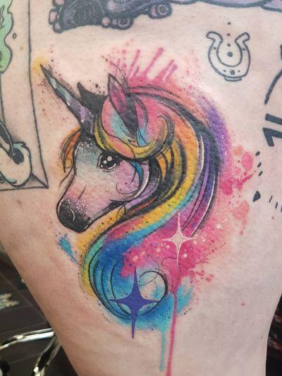 #watercolour #watercolourtattoo #unicorn #🦄 #unicorntattoo #unicornwatercolour