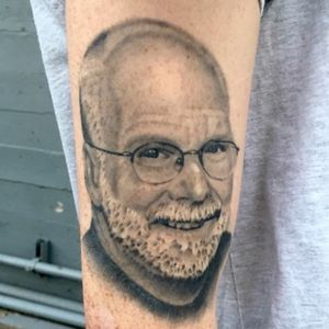 Healed portrait of customers dad.