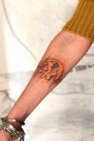 Machete shop Tattoo #simba #simbatattoo #watercolor #watercolortattoo