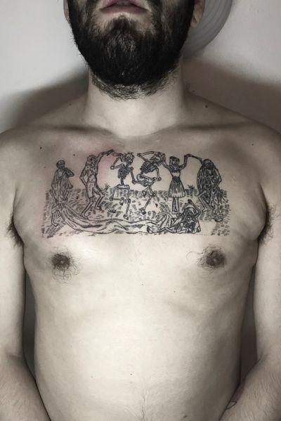 Half done 🔥🔥🔥 @_je_to_on_ 🔥🔥🔥 #handpoke #tattooart #tattoo #tattooartist #ink #stickandpoke #tetovani #handpoked #minimalist #ignorantstyle