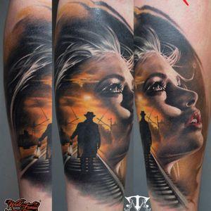 #colortattoo #realistictattoo #bloodytattoo #tattoo #tattoos #tattooed #inked #ink #inked #inklife #stuttgart #mannheim #mireltattooartgallery #tattoolife #insane #horror #blood #walkingdead #vampirediaries