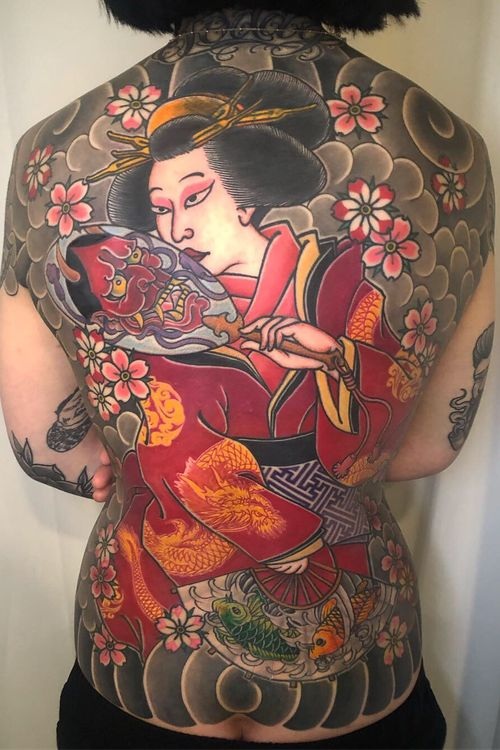 #japanese #japanesetattoo #irezumi  #gaisha #girltattoo #japanese #japanesetattoo #tattooart #Korea #Seoul  #blackwork  #blackworktattoo