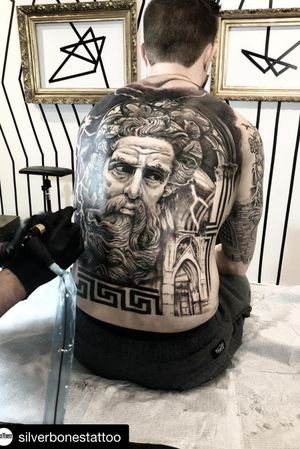 Check out this amazing back piece @nestor_ace is working on.  #tattooed #tattoo #tattoos #tatts #tatted #tattooed #tattooer #ink #inked #sullenclothing #zeus #backtattoo @intenzetattooink #blackandgreyink #silverbonestattoo #inkaddict #vancouver #blackandgreytattoo #vancouvertattooshop #vancouvertattoo @inkeeze @killerinktattoo #vancouvertattooartist #vancity #vancouverisland #vanlife  #bestoftheday @tattoorealistic @superb_tattoos @the.best.tattoo.page @tattoolifemagazine