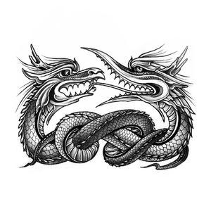 #tattooartist #tattooart #sketch #dragon #dragontattoo #snake #design #tattoodesign #graphic #blacktattoo #blackwork #blackworktattoo #berlin #keblacktattoo