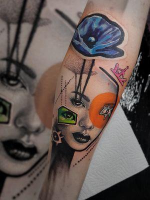#neotrad #neotraditionaltattos #neotraditional #neotradeu #inking #killerink #tbsta #tattooistartmagazine #markgraftattoo #poland #poznantattoo #poznan #tattoo #art #tatts #surrealism #thebesttattooartists #realism #realusmtattoo #lowbrow #popsurrealism #inkart #collage #artpop #surreal #minimal #graphicdesign #graphic#artist