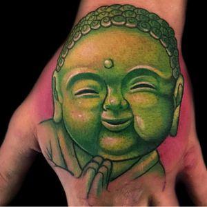 #handtattoo #jobstopper #buddha #buddhatattoo