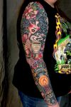 #traditional #neotraditional #pinup #lantern #color #sleeve #DarcyNutt #chalicetattoo