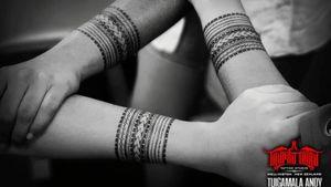 #Samoan Taulimas x3. #Polynesian #freehand #samoantattooartist #newzealandtattooist #konnectedbykulture #taupoutatautattoostudio