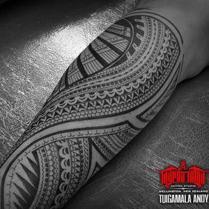 #CookIsland #Raro #Samoan mixed back of calf #tattoo. #Polynesian #freehand #samoantattooartist #newzealandtattooist #konnectedbykulture
