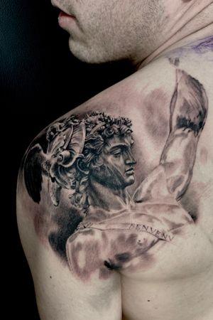 Work in progress #realismtattoo#tattoorealism #tattoorealistic #blackandgreytattoo