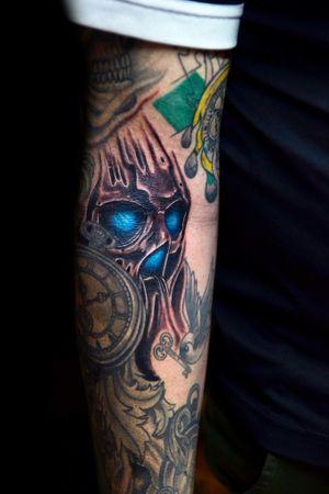 #skull #skulltattoo #caveira #caveiratattoo #caveira #cranio #thiagopadovani