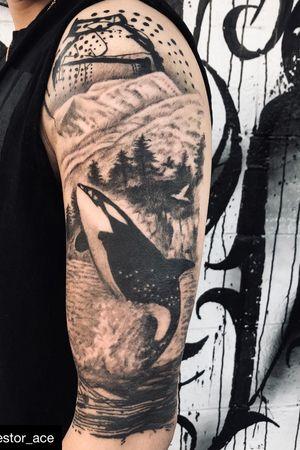 @nestor_ace #halfsleevetattoo #bc #theme #vancouver #sealife #whale #vancity #granvilleisland #westcoast #tattoo #tattooideas #tattoos #tattooer #tatted #inktober #inktober2018 #ink #inked #inkjunkeyz #inkaddict #besttattoos #vancouvertattooartist #vancouvertattoo #bestoftheday #tatuajes #tatuaje #burnaby #langley #richmond #ocean