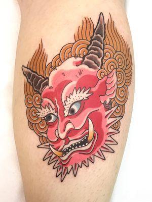 Tattoo by Junior #Junior #tattoodo #tattoodoapp #tattoodoappartists #besttattoos #awesometattoos #tattoosforgirls #tattoosformen #cooltattoos #oni #demon #yokai #color #japanese
