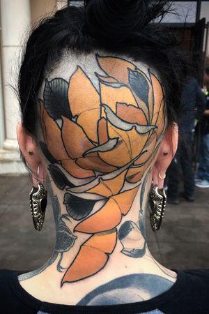 #rose #headtattoo #neotraditional #neotraditionaltattoos #nature #nouveau #tattooartist #Tattoodo