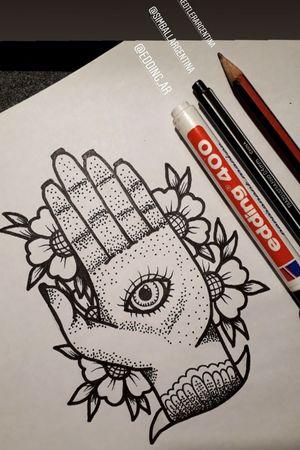 Manito #hand #eye #iluminati #flash #design #boceto #sketch #ojo #mano #traditional #dots