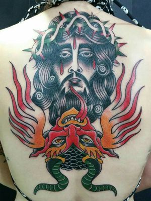 #sarcofagoband #rotting #jesus #christ #JesusChrist #blackmetal #truetilldeath #traditionaltattoo #braziliantattooartist