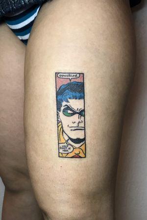 @_je_to_on_ 🔥🔥🔥 #handpoke #tattooart #tattoo #tattooartist #ink #stickandpoke #tetovani #handpoked #minimalist #ignorantstyle #comics #robin #batman