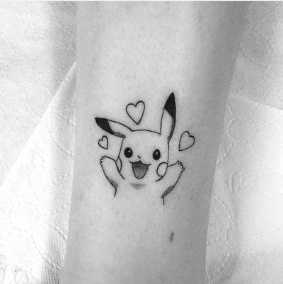 #Pikachu #pikachutattoo #cutetattoo #cute #pokemon #pokemontattoo #kawaii